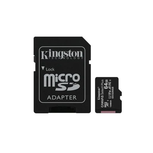 MEMORIA KINGSTON MICRO SD UHS-I 64GB CLASE10 100M