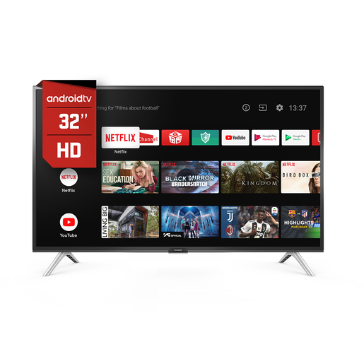 "SMART TV 32"" HITACHI SMART17 ANDROID BT C/VOZ"
