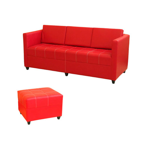SILLON COLOR LIVING IVOR + BANQUETA 3 CUERPOS G2
